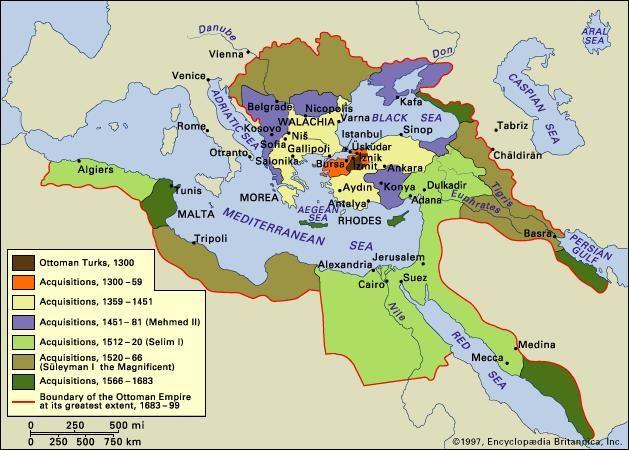 Ottoman Empire History Sciences Ottoman Empire Historical Maps