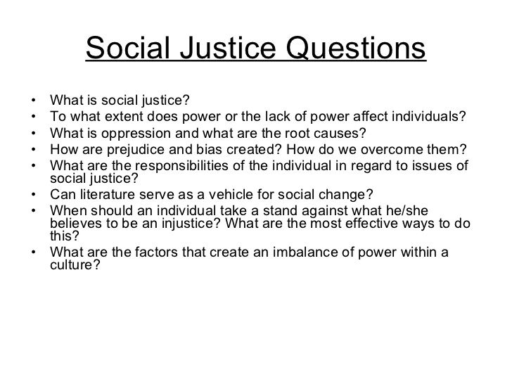 essay on social justice issues Social problems research papers examine an research papers examine a social issue that has been widespread in criminal justice research papers.