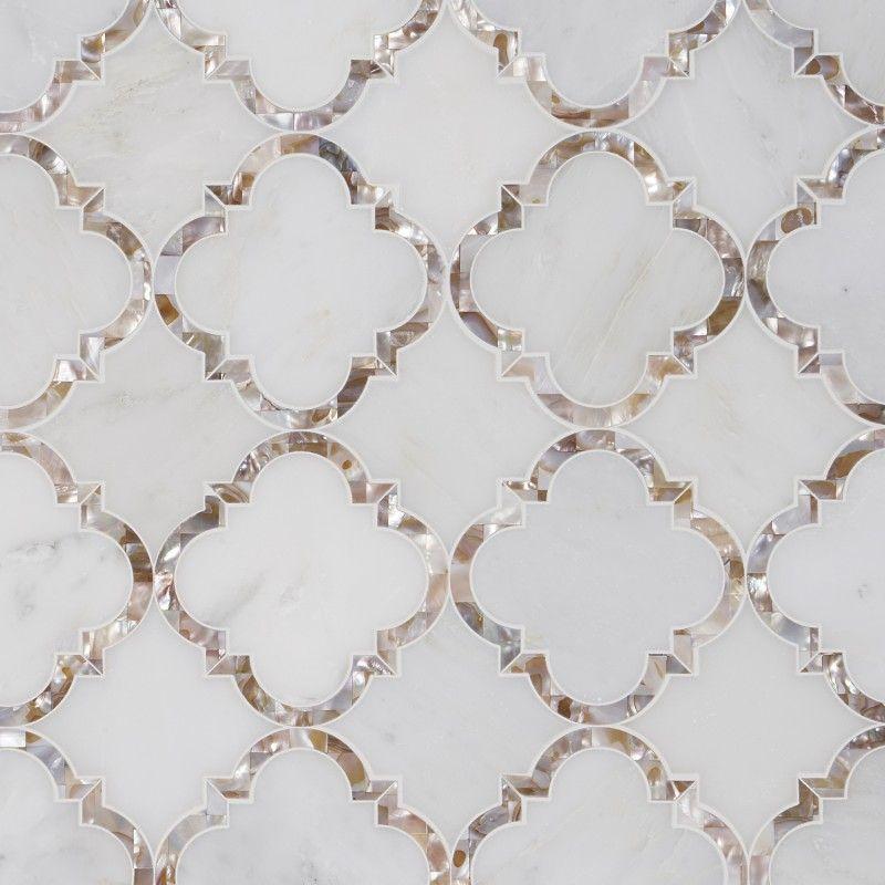 Italian Statuary White Marble Polished 2 Hexagon Mosaic Tile 1 Sheet