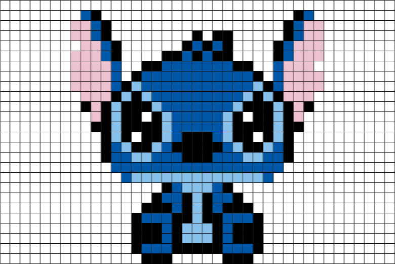 Stitch Disney Pixel Art Crafts Pixel Drawing Pixel