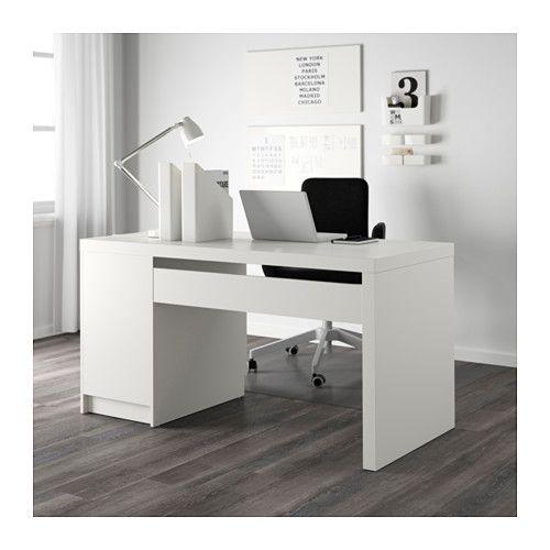 Malm Escritorio Blanco White Desks White Paneling Ikea Malm Desk