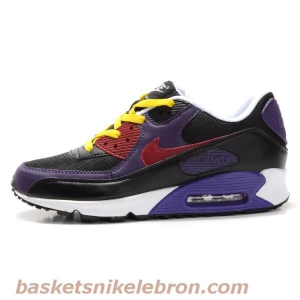Chaussures Air Max Femme Nike Air Max 90 amant noir   blanc