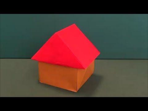 簡単 立体的な 家 折り紙easy Three Dimensional House Origami