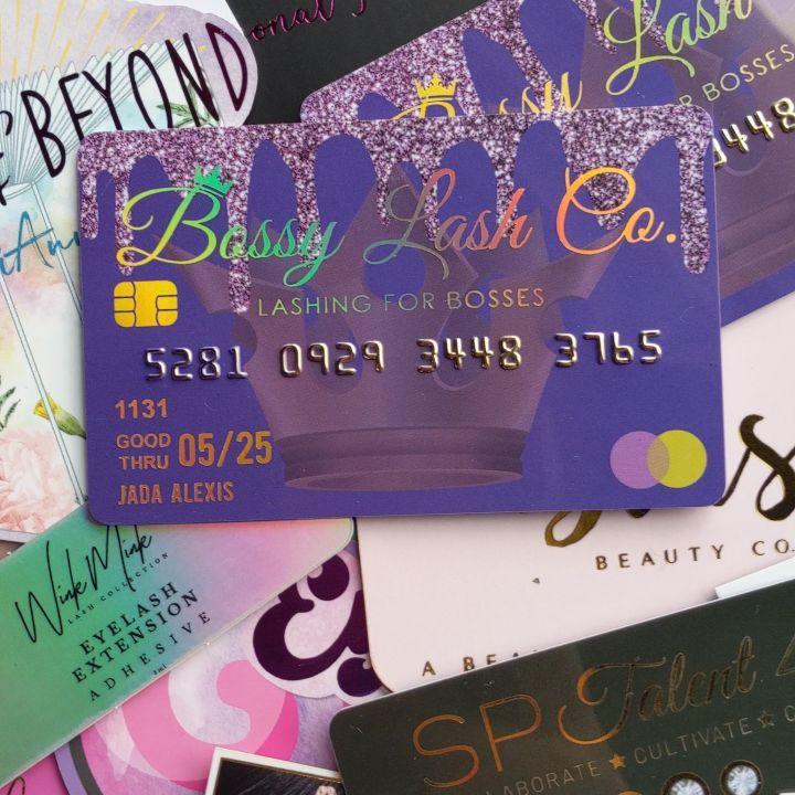 unique business cards holographic gold foil credit