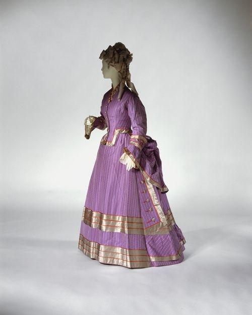dress ca. 1872-1875 via The Costume Institute of The Metropolitan Museum of Art