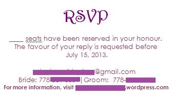 Rsvp email address