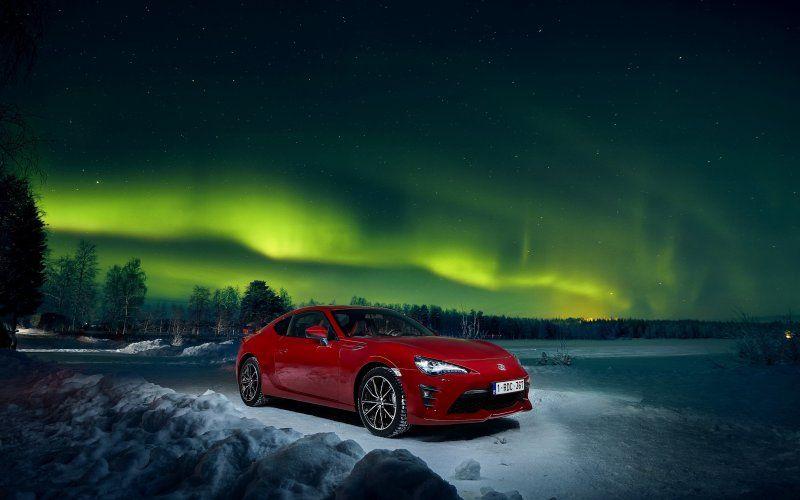 2018 Toyota 86 Front Night Outdoor Northern Lights Aurora