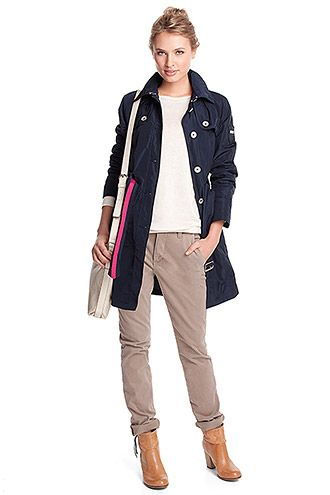 soft taffeta trench coat COLLECTION - Esprit Online-Shopista