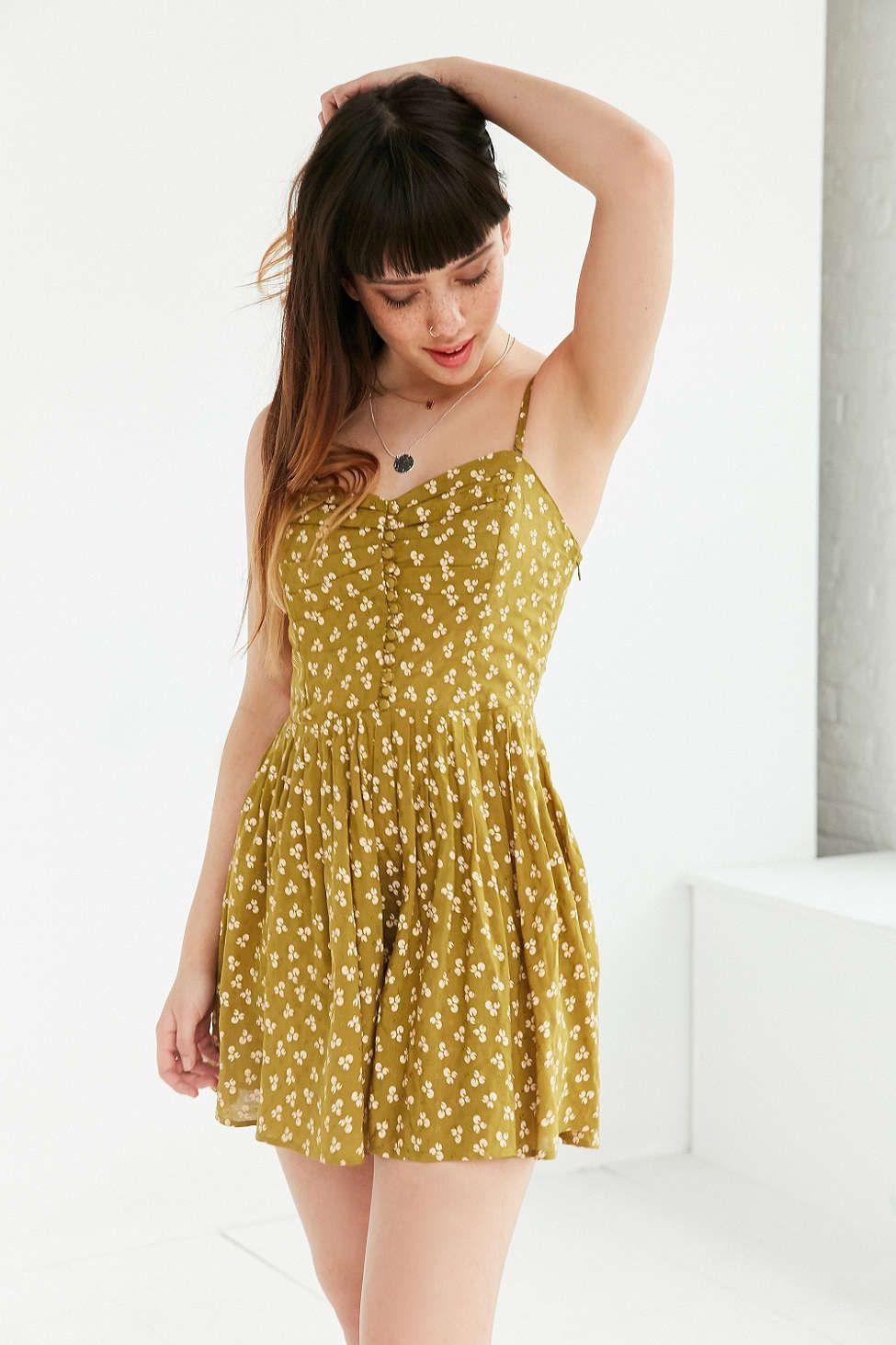f2b81011badb Kimchi Blue Gina Jo Sweetheart Romper - Urban Outfitters