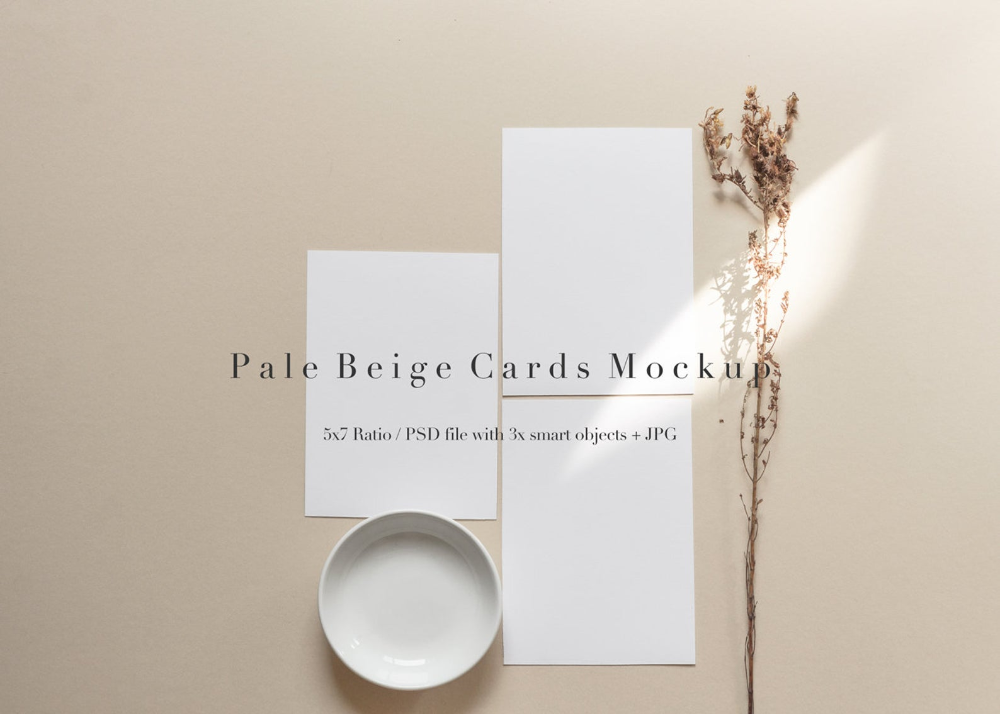 5x7 Invitation Card Mockup Blank Card Mock Up PNG PSD Invitation Mockup JPG