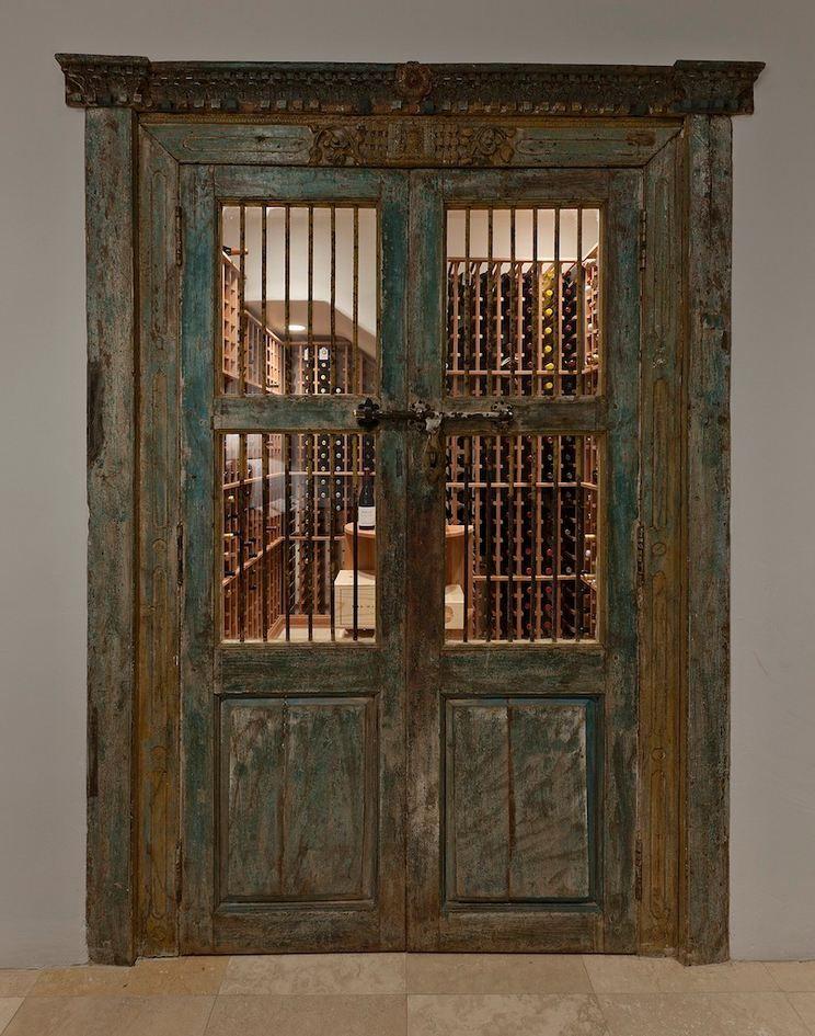 Antique Doors Wine Cellar Door Antique Doors Wood Doors Interior