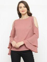 af7a5c6b83e Buy PlusS Women Mauve Solid A Line Top - Tops for Women 2468621 | Myntra