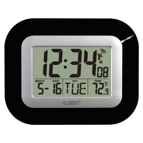 La Crosse Technology Wt 8005u 9 In Digital Atomic Wall Clock Atomic Wall Clock Digital Wall Clock