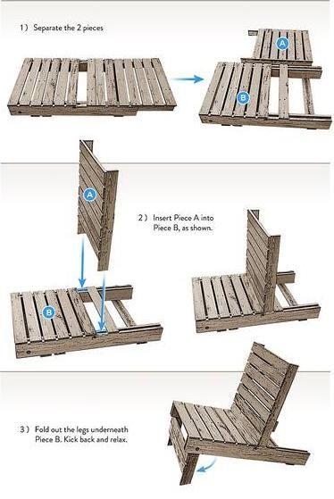 Diy Make A Chair By Pallet Idéias
