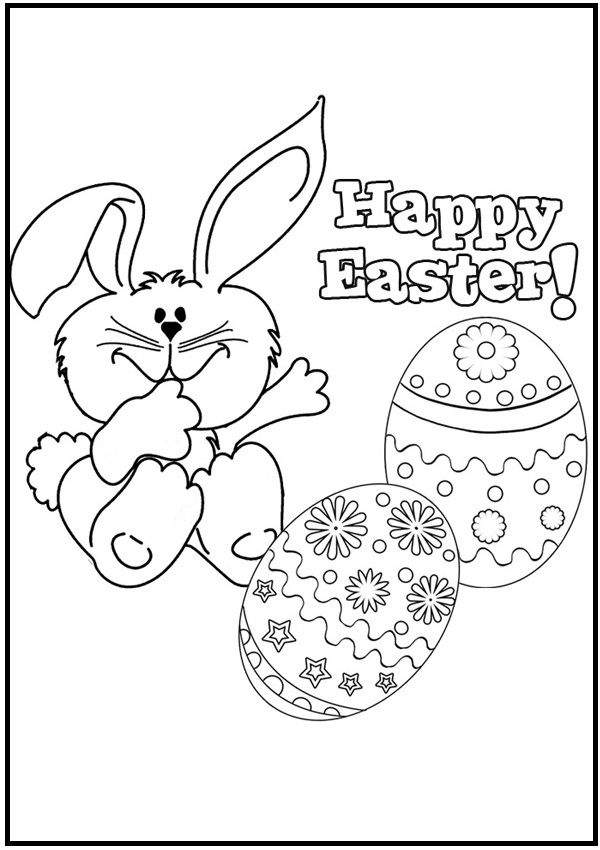 Little Rabbit Getting Beautiful Easter Eggs Coloring Pages For Kids Cha Printable Easter Coloring Pages For Kids