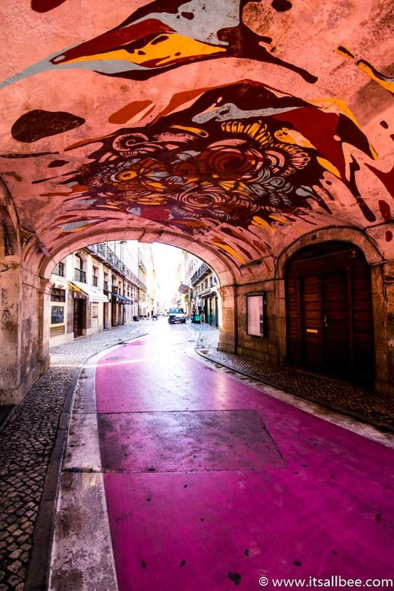 Lisbon's Pink Street on Rua Nova do Carvalho | Best Lisbon Nightlife Spots | ItsAllBee Travel Blog