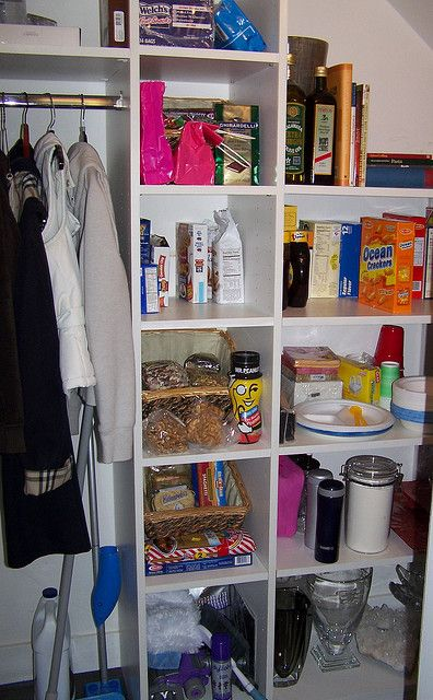 Pantry Coat Closet Combined   Not Quite What Iu0027m Going For, But My Love  Will Be Excited Iu0027m Considering Including A Coat Rack!