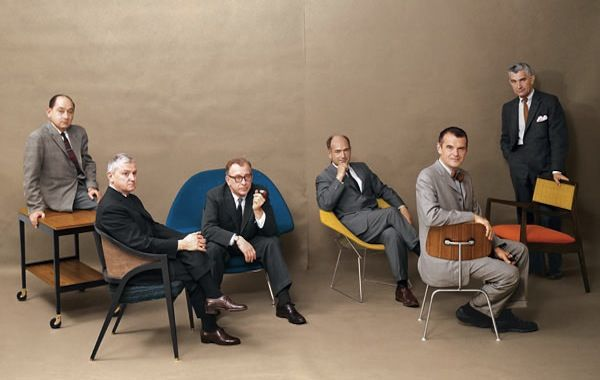 FIVE-ORITES: 1961 ICONS OF MIDCENTURY DESIGN FEATURED IN PLAYBOY--NELSON, WORMLEY, SAARINEN, BERTOIA, EAMES AND RISON