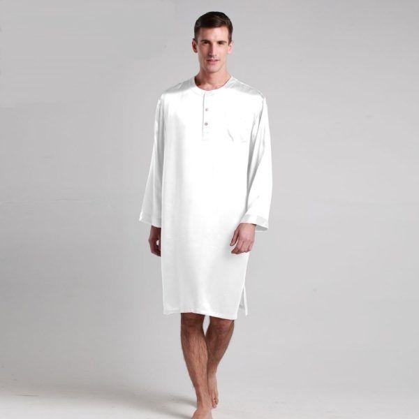 Robe De Chambre Blanche Manches Longues Dresses Shirts Shirt Dress