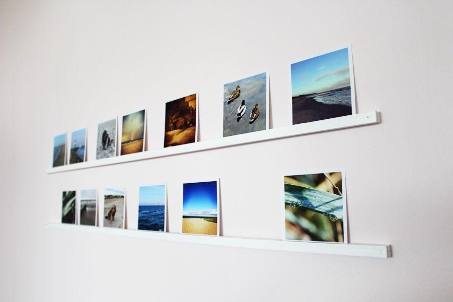 Fotos Aufhängen Kreativ : diy photos bilder leiste bild leiste fotowand ideen ~ Watch28wear.com Haus und Dekorationen