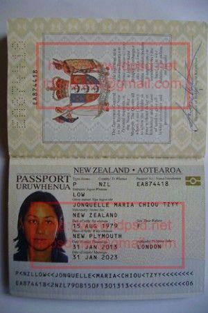 Passport Certificate Psd Templates Template Birth New Zealand Documents Fake Passport