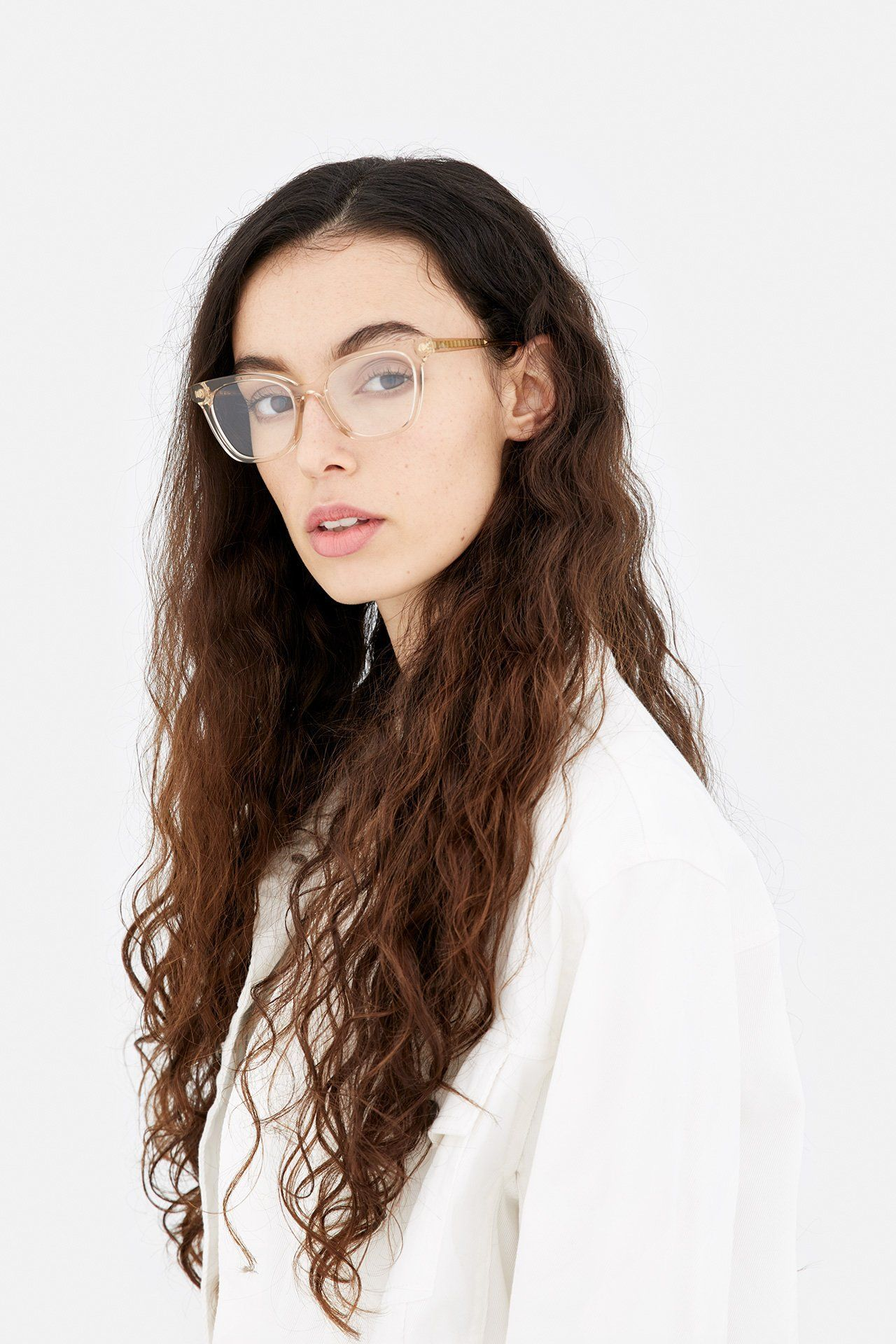 d57e975ed648 The RETRO SUPER FUTURE // NUMERO 54 Eyeglasses features wide lenses with a subtle  cat-eye design for women crafted out of light and durable acetate.