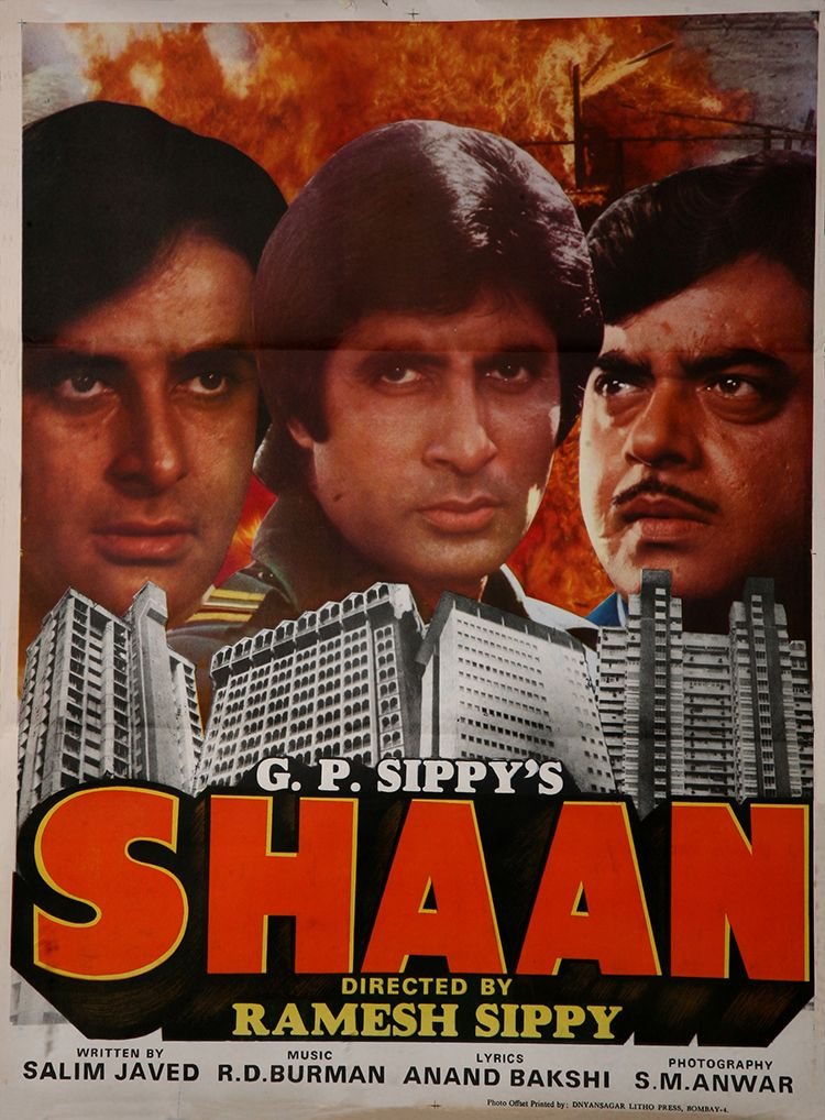 shaan 1980 amitabh bachchan bollywood posters