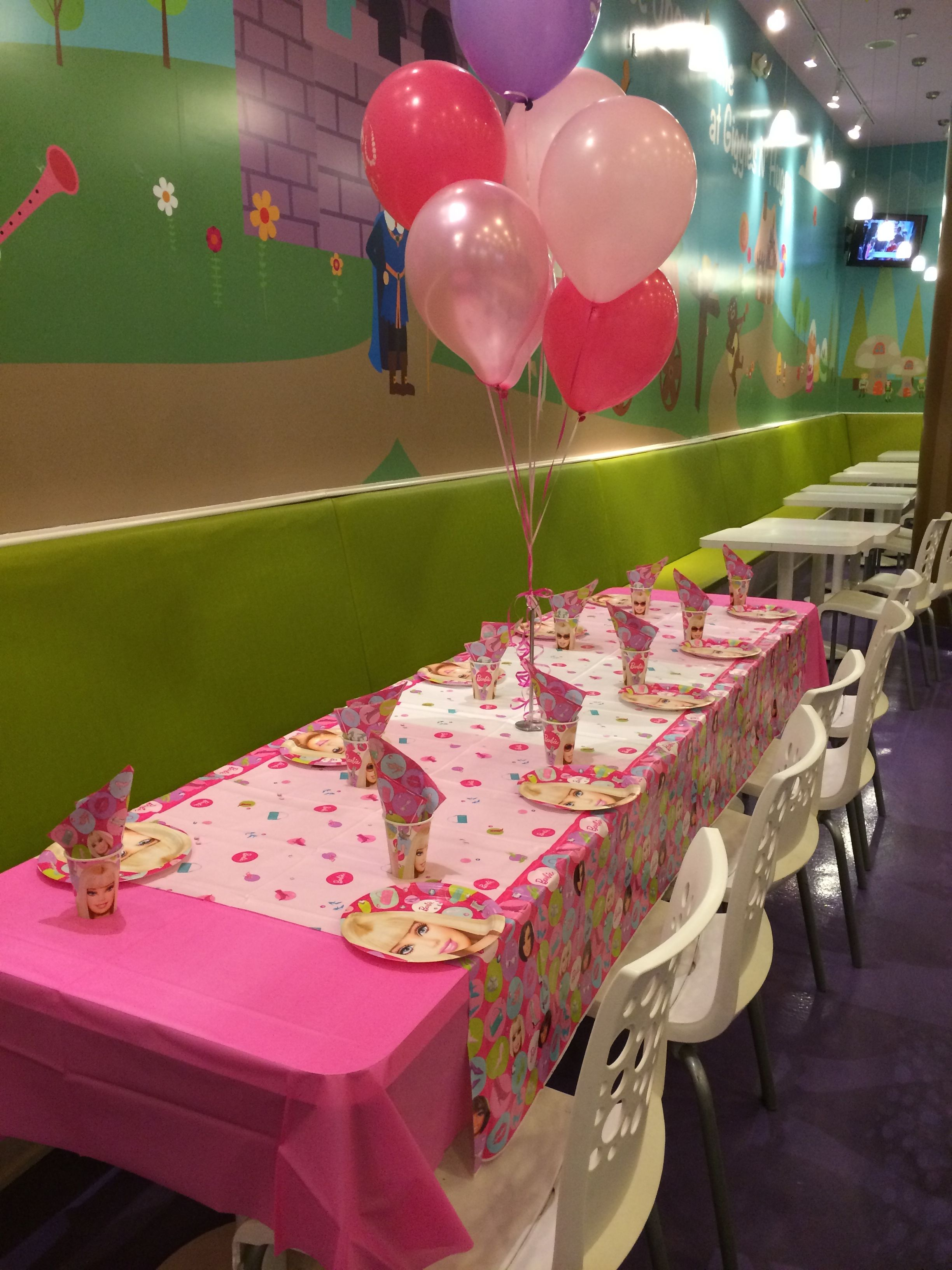 Barbie Themed Kids Table Set Up So Pretty
