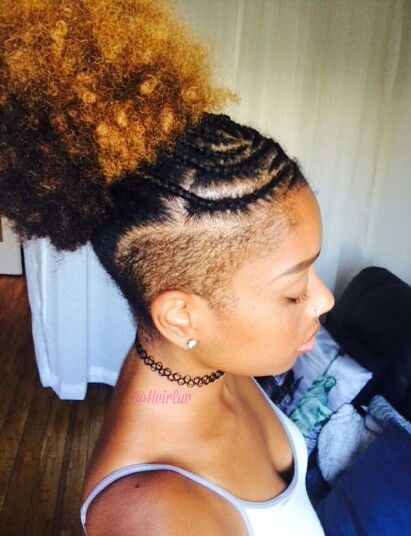 Hvirluv Shaved Side Hairstyles Tapered Natural Hair Natural Hair Styles