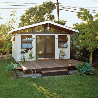 Backyard retreat guest space studio love for Building a home office in backyard