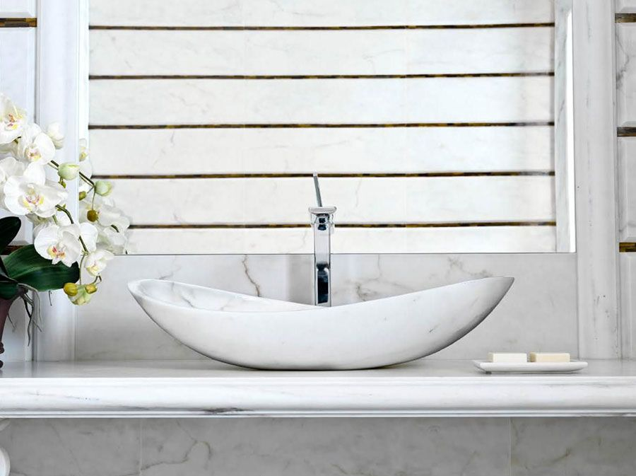 Lavabo bagno in pietra da appoggio 08 | Bagni di design | Pinterest ...