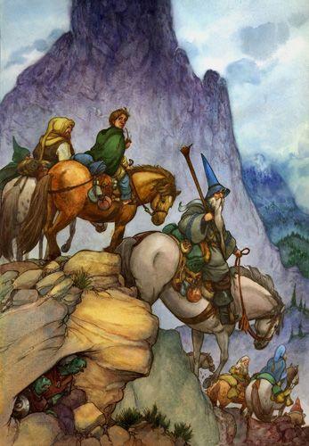 David T Wenzel Watercolor The Hobbit The Hobbit Tolkien