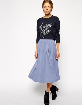 ASOS   ASOS Full Midi Skirt at ASOS