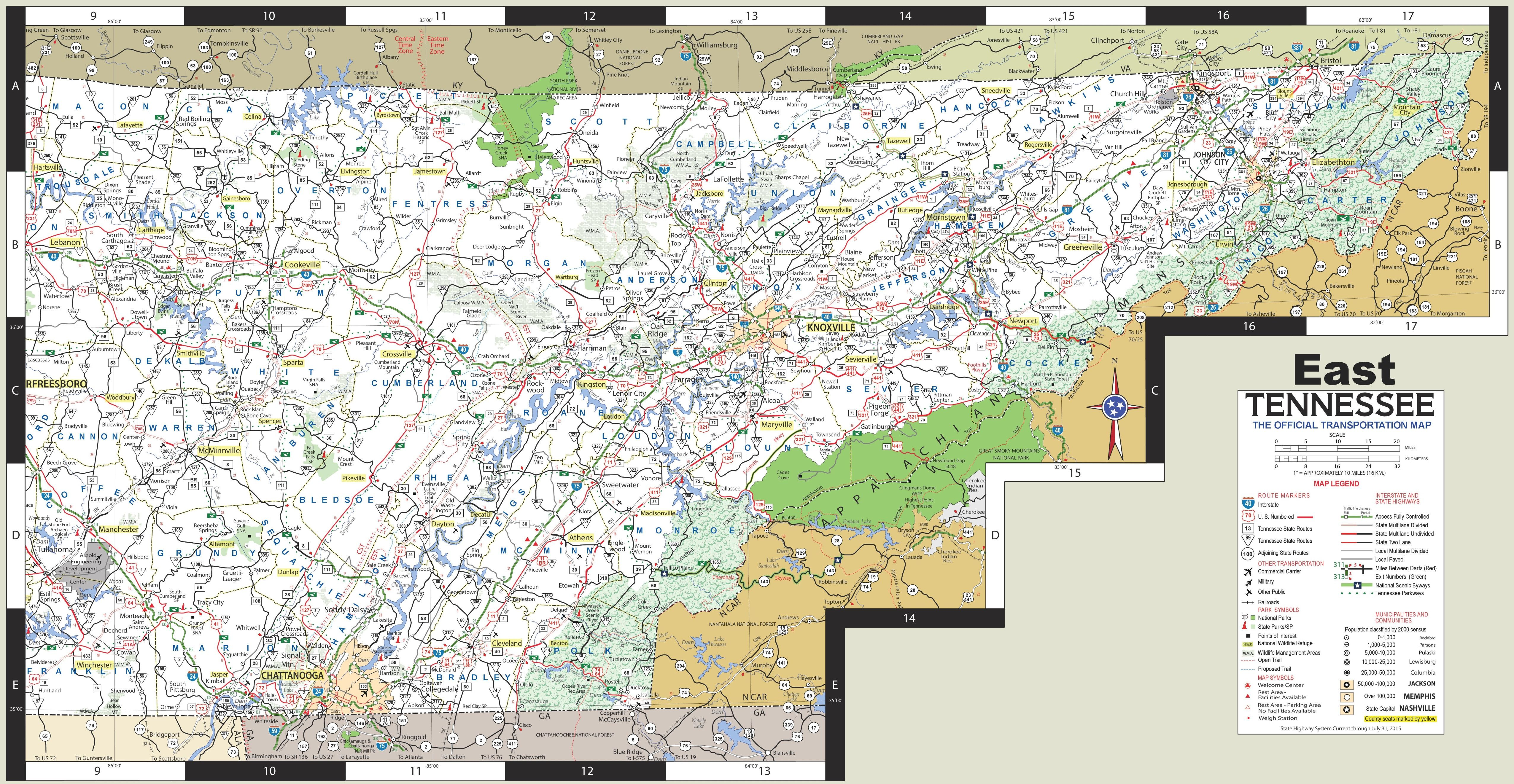 Map of East Tennessee (With images) Map, East tennessee