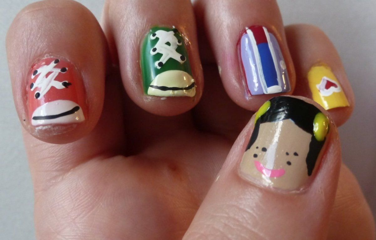 Punky Brewster Nail Art Video. Really cute design for the holidays ...