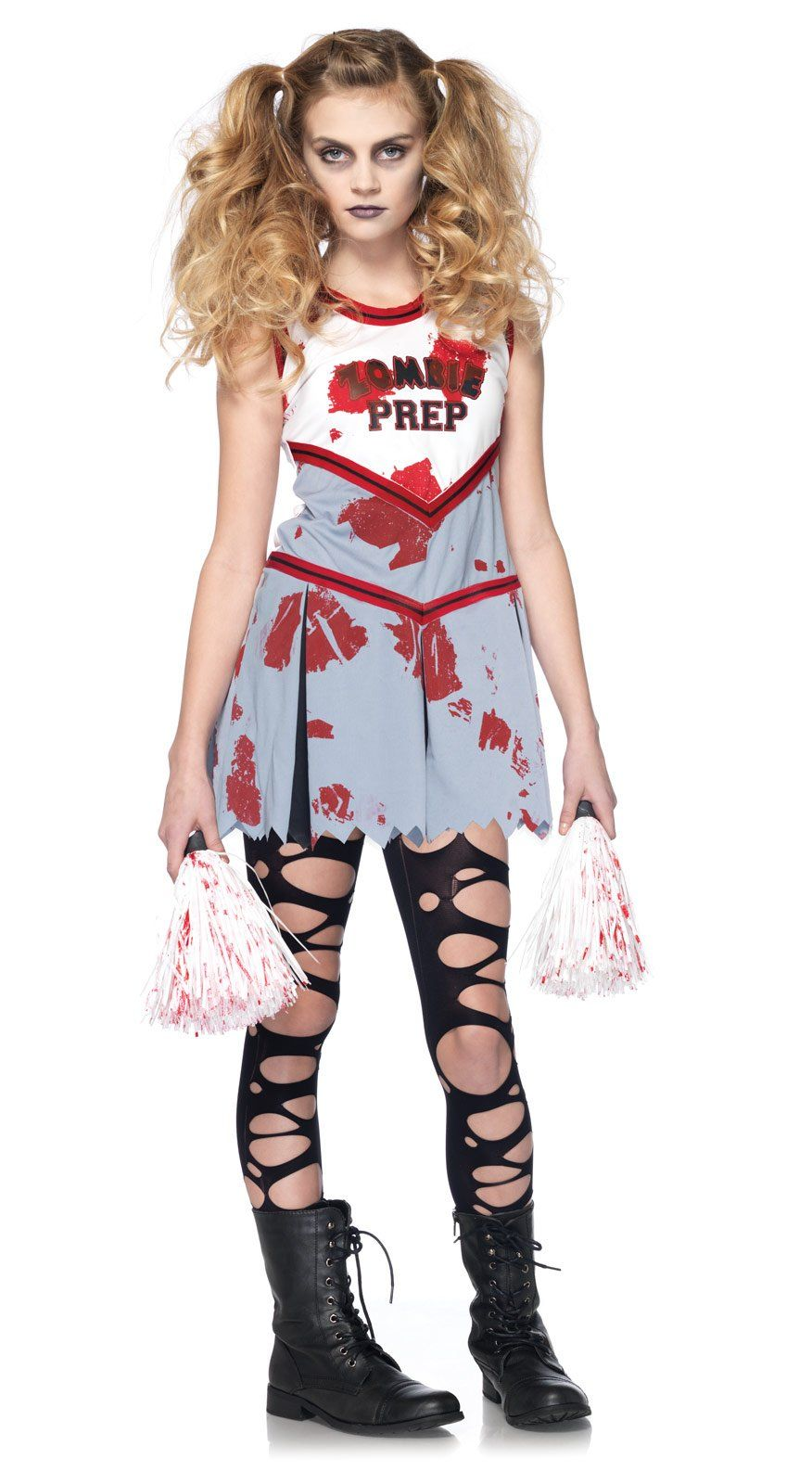 zombie cheerleader child costume from buycostumescom