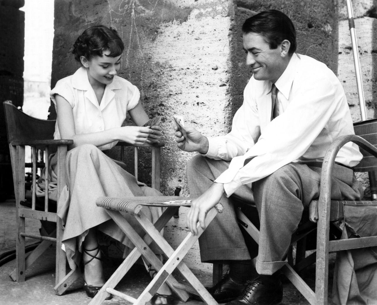 Audrey and Gregory are lovely even when they're taking a break from their Roman holiday.