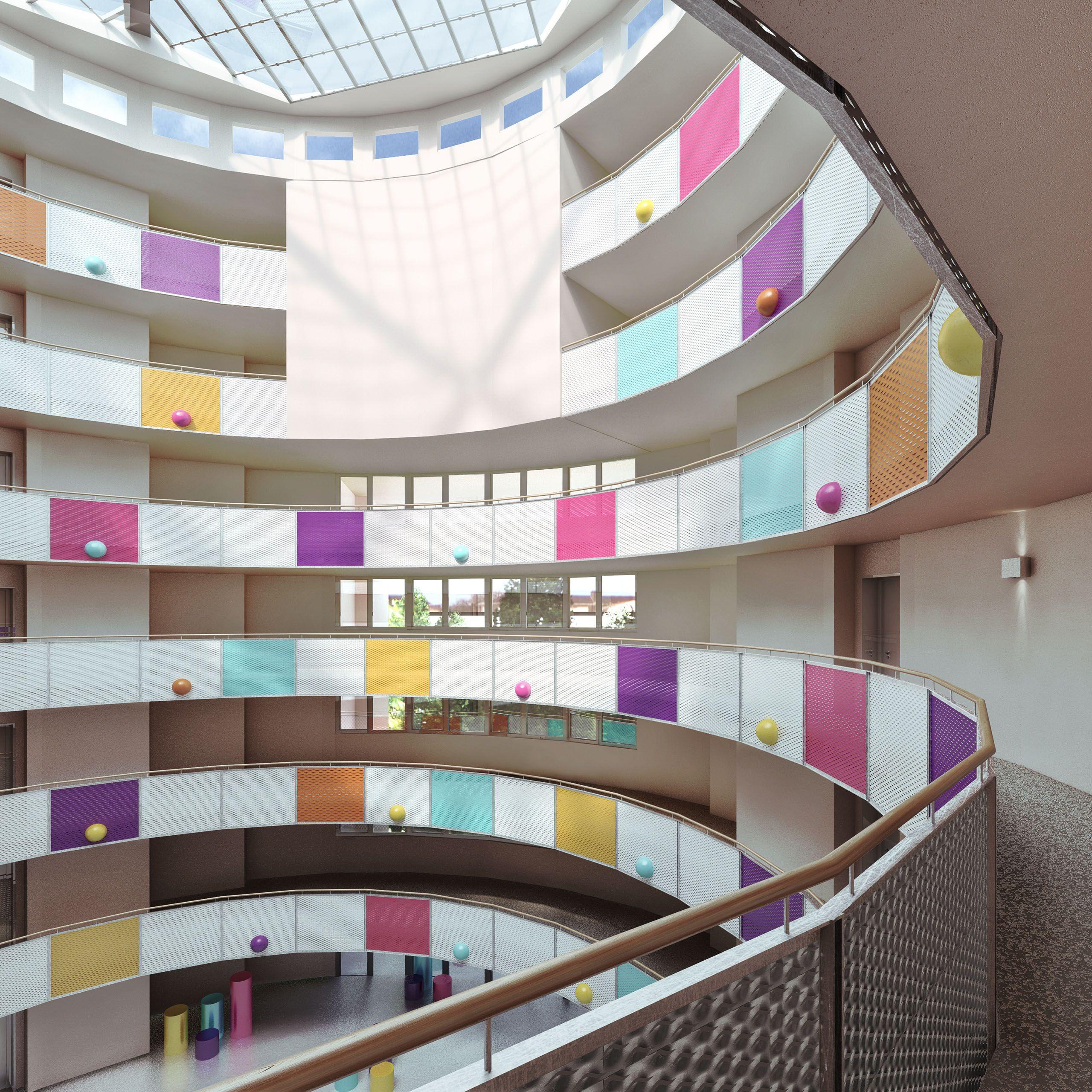 Architekturvisualisierung Berlin interior berlin weissensee neues berlin foyer