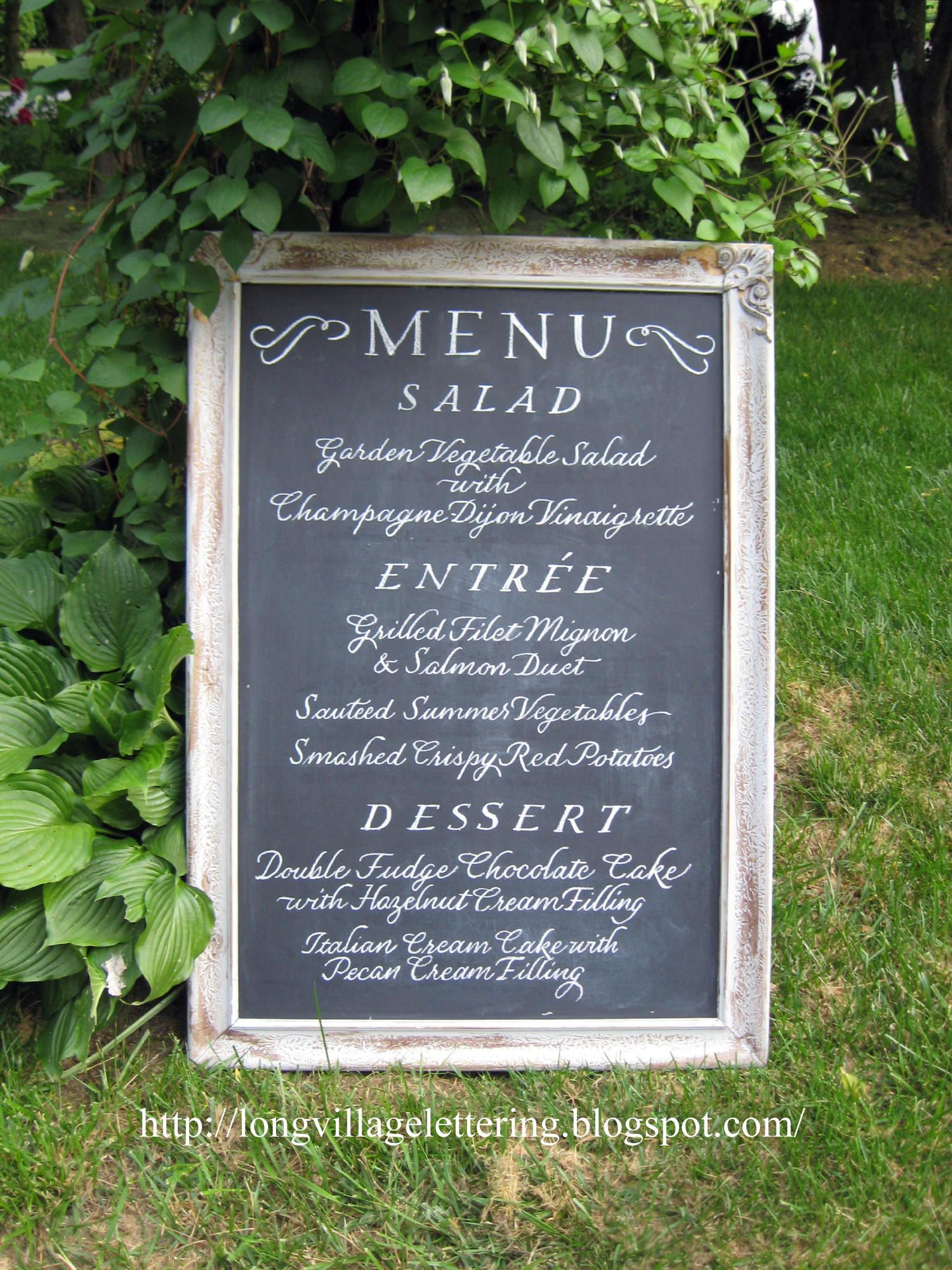 Wedding Menu For Reception On Chalk Board With Images