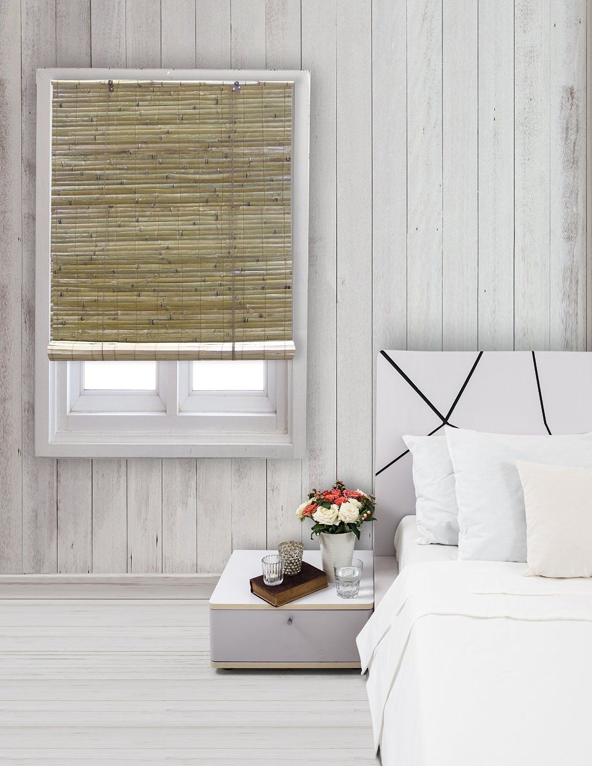 Window coverings types  amazon radiance  laguna bamboo shade roll up blind