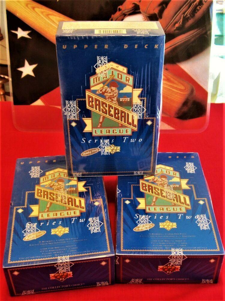 1993 upper deck 3 box lot baseball series 2 hobby sealed