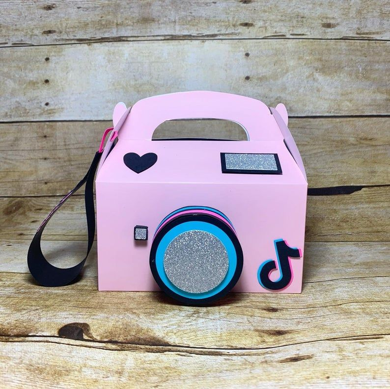 Tiktok Camera Box Set Of 10 Etsy Free Birthday Stuff Pink Camera Cute Gift Boxes