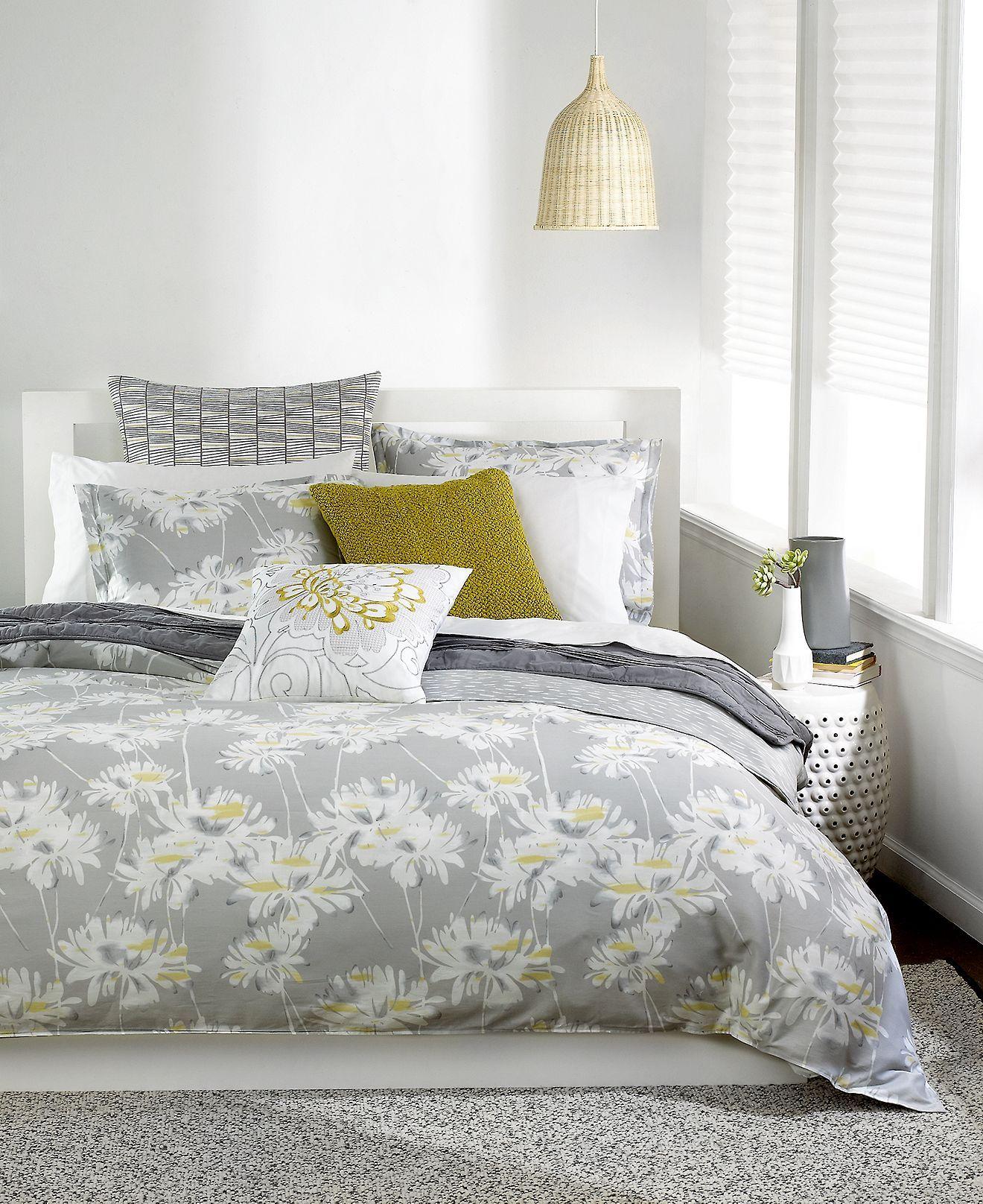 Bar Iii Grey Fl Bedding The Astrid Collection Bariii Comforter