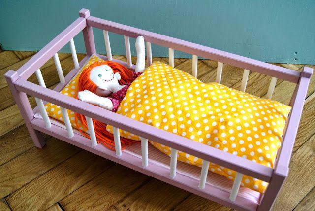 Puppenbett und Bettwäsche..Schnittmuster und Nähanleitung | Nähen