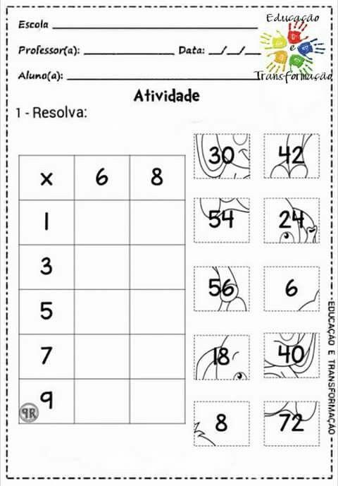 Çarpma | Matematik | Pinterest | Multiplikation, Mathe und ...