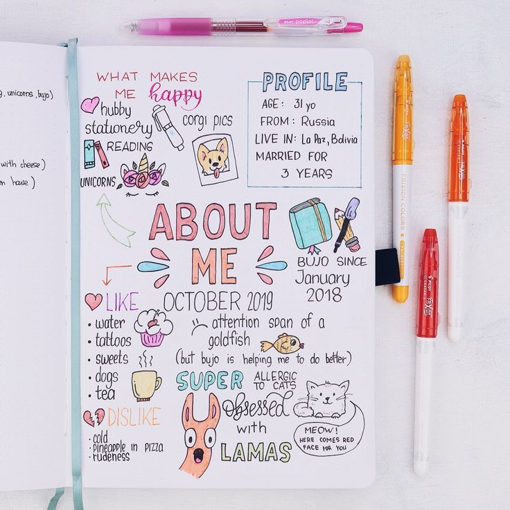 How To Create an About Me Page In Your Bullet Journal