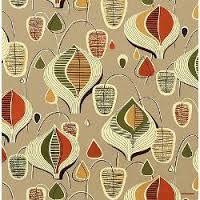vintage French barkcloth fabric
