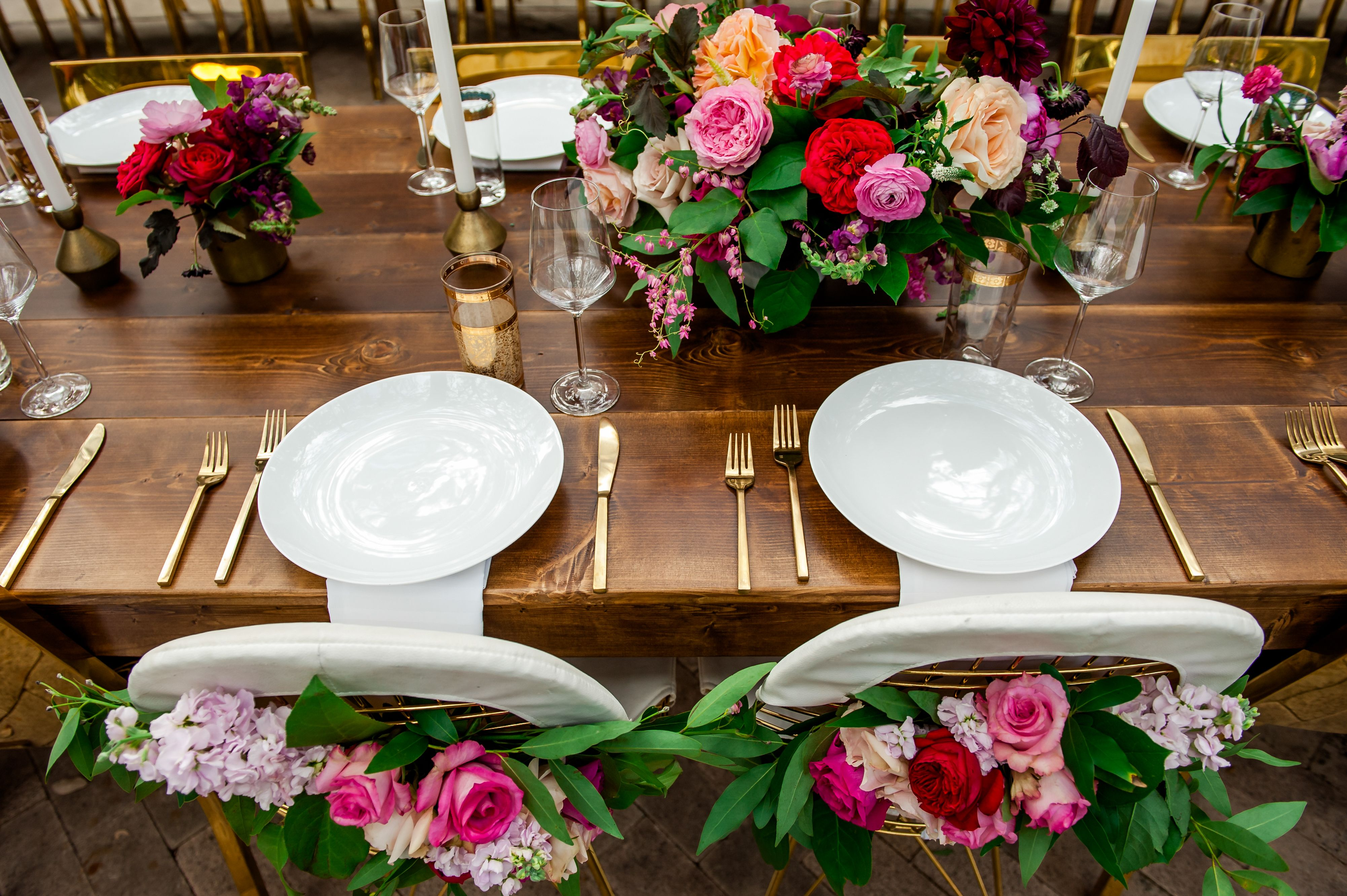 Leather Gold Modern Sweetheart Chairs Romantic Garden Wedding At Hotel St Cecilia Vintage Renta Modern Furnishings Romantic Garden Wedding Sweetheart Chair