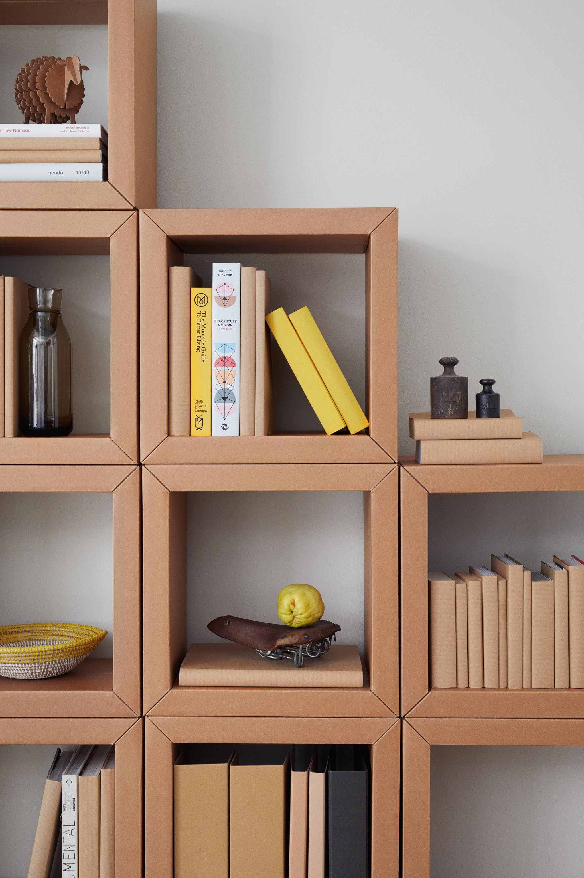Diy Meuble En Carton cardboard furniture from berlin: book shelf all of carton