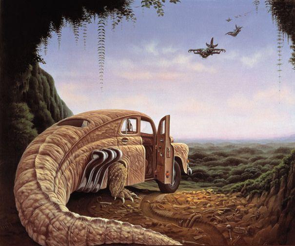 當代超現實藝術家 Jacek Yerka,帶領你進入令人驚嘆的幻想與夢境世界!